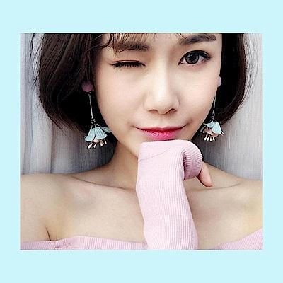 梨花HaNA 韓國蜜桃花氛立體球球耳環