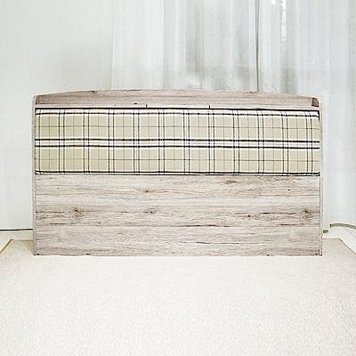 AS-法蘭克6尺浮雕木紋靠墊床頭片-184x15x98cm