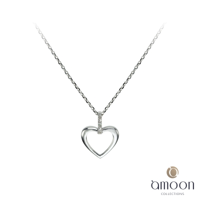 amoon 浪漫艾菲爾系列 悸動 9K金鑽石項鍊