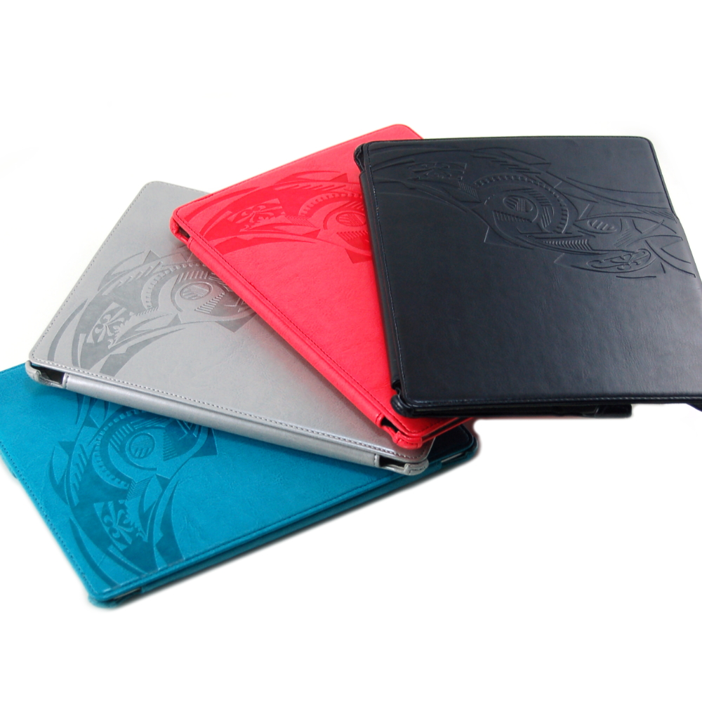 Optima 圖騰烙印系列 new ipad/iPad2 義大利牛皮紋 保護套