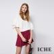 ICHE-衣哲-簡約百搭挺版俐落打摺造型褲裙