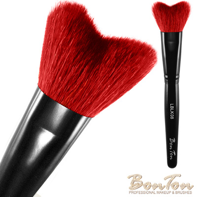 BonTon 墨黑系列 M形修容/腮紅刷 LBLK08 特級尖鋒羊毛