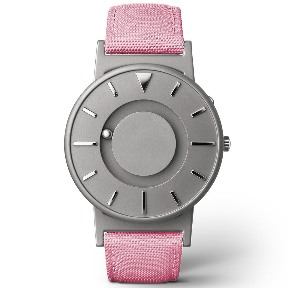 EONE 美國設計品牌 Bradley 觸感腕錶-亮彩粉/40mm