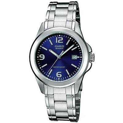 CASIO 尚典雅淑女腕錶(LTP-1215A-2A)-藍/28mm
