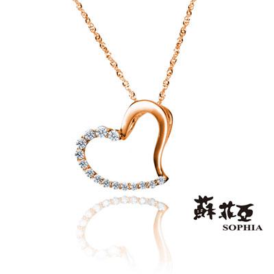 蘇菲亞SOPHIA 鑽石項鍊-戴瑞莎 0.20克拉玫瑰金鑽鍊