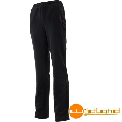 Wildland 荒野 W2531-54黑色 女奈米銀機能彈性刷毛長褲