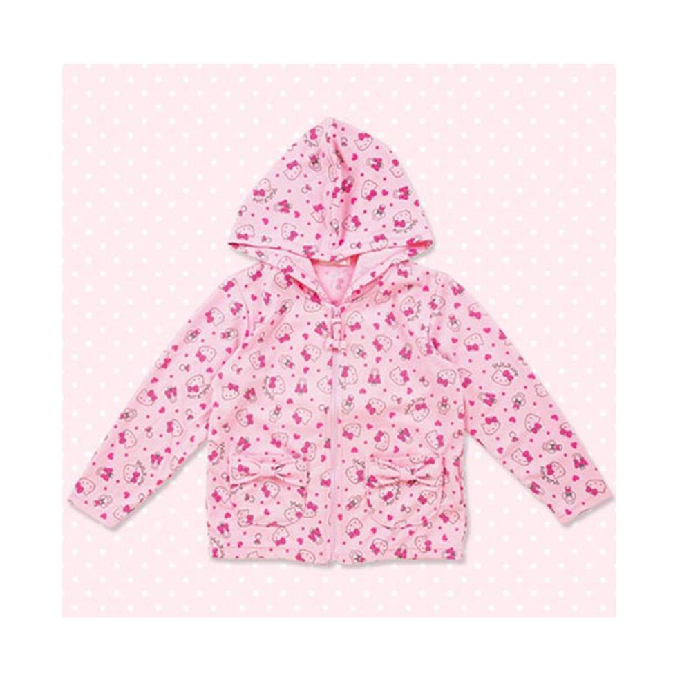 《Sanrio》HELLO KITTY兒童滿版圖案連帽外套(120cm)