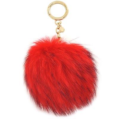 MICHAEL KORS Pom-Pom毛球鑰匙圈吊飾(大/紅色)