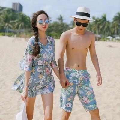 Biki比基尼妮泳衣  帕非有袖情侶泳衣泳裝有加大泳衣(男生購買區)