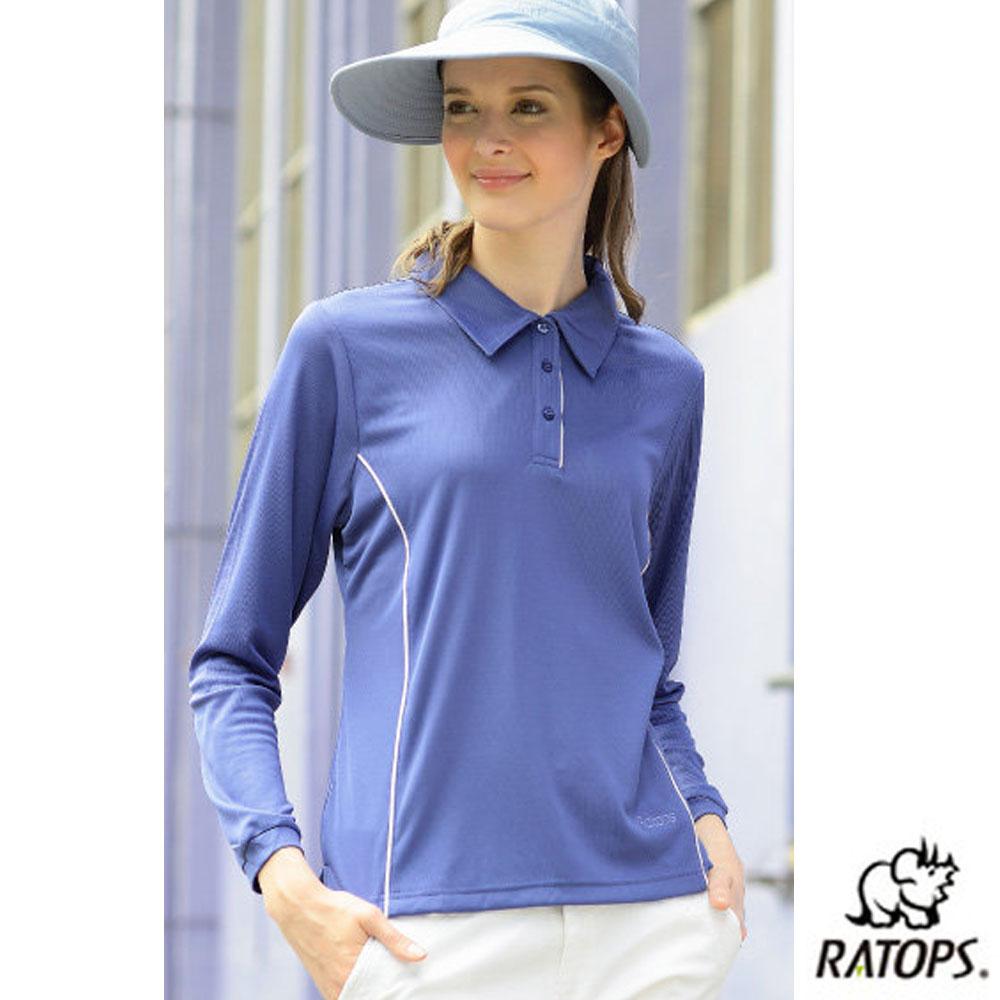 【瑞多仕-RATOPS】女 Coolmax 薄長袖POLO衫_DB8449 薰衣紫