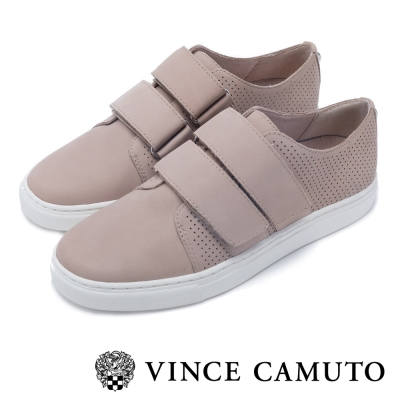 VINCE CAMUTO  粉嫩春夏 真皮雙帶懶人平底鞋-灰色