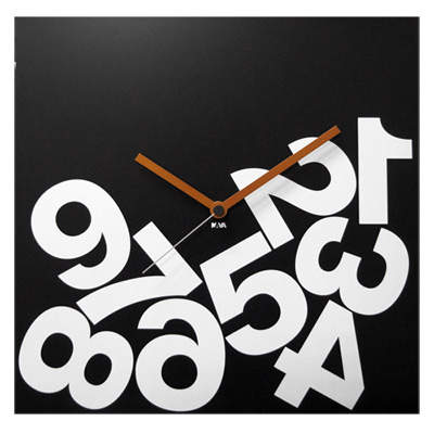 NAVA DESIGN 個性數字掛鐘-黑