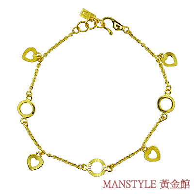 MANSTYLE「歡歡喜喜」黃金手鍊