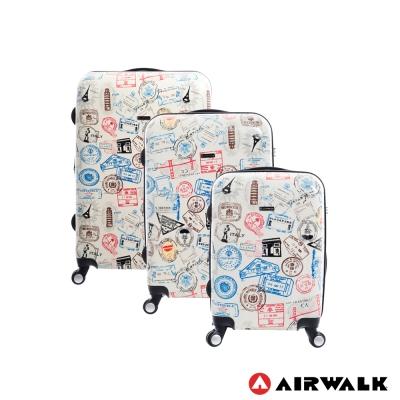 AIRWALK  - 精彩歷程 環郵世界行李箱20+24+28吋 三箱組(各地米白)