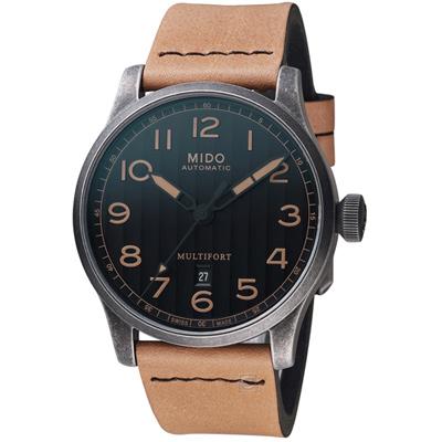 MIDO美度表Multifort先鋒系列Escape復刻Horween特別版腕錶-44mm