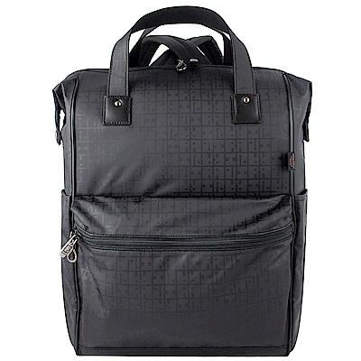 YAMATOYA RaviRavi 防水輕材質系方型後背包(黑/大)