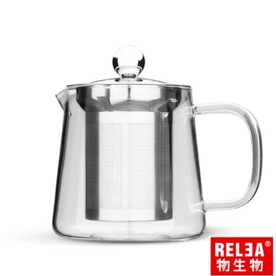 香港RELEA物生物 550ml幾何耐熱玻璃茶壺組