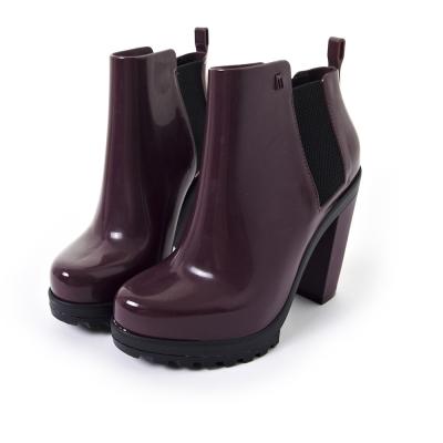 MELISSA 帥氣粗跟軍靴-紫