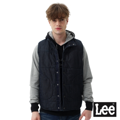 Lee  牛仔舖棉背心/RG-男款-藍色