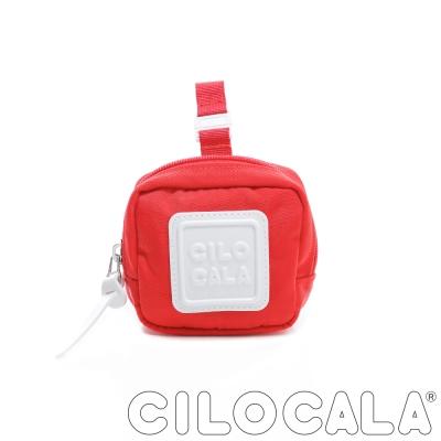 CILOCALA 亮彩尼龍防潑水可扣式零錢包 紅色