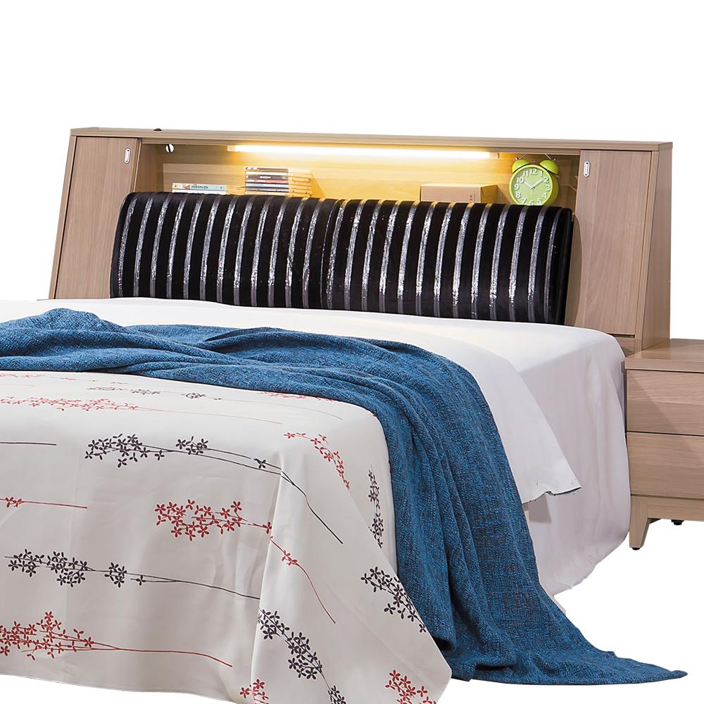 愛比家具 斯諾迪6尺雙人加大床頭箱