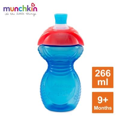 munchkin滿趣健-貼心鎖鴨嘴防漏杯266ml-藍