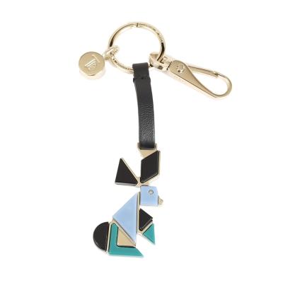 TOD`S 拼色造型兔鑰匙圈(藍色)