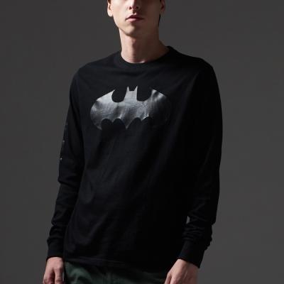 CACO-蝙蝠俠黑箔長T-男【MDC029】