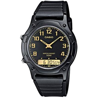 CASIO 超時玩家雙顯指針錶(AW-49H-1B)-黑/38.8mm