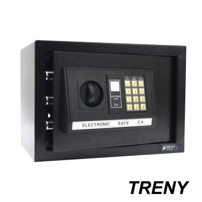 TRENY三鋼牙 電子式保險箱 中 黑