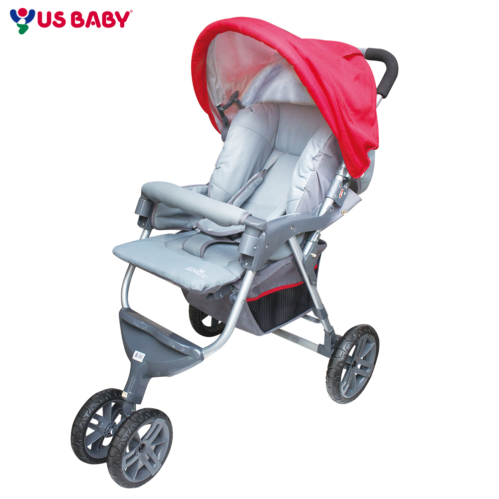 ELSKER歐風三輪式嬰兒推車689-紅