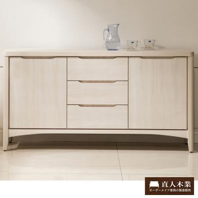 日本直人木業-COCO白橡152CM廚櫃(152x40x80cm)