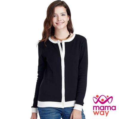 Mamaway 經典開襟假2件孕婦裝.哺乳衣(共三色)