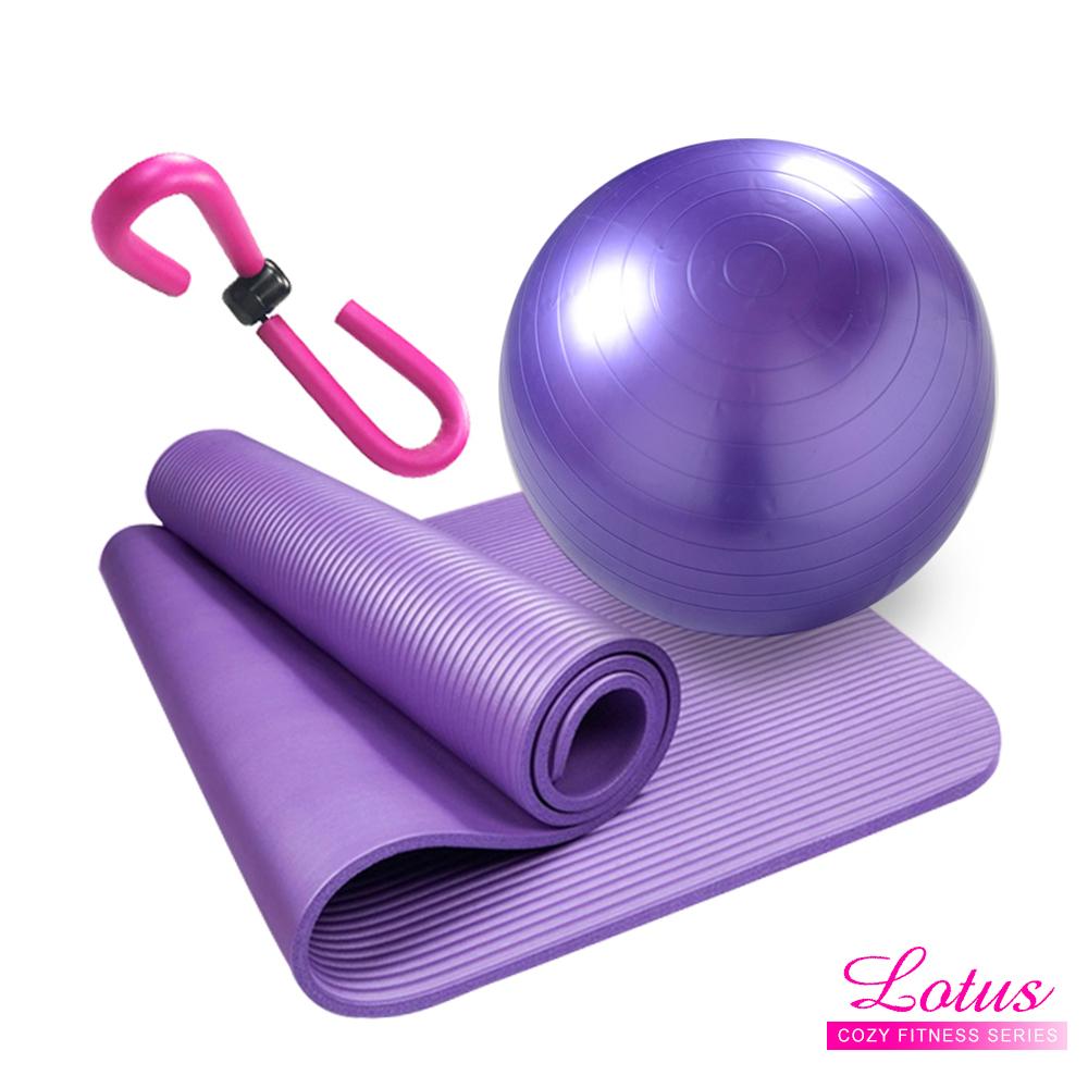 瑜珈系列-超值三件組瘦腿神器瑜珈墊瑜珈球-LOTUS