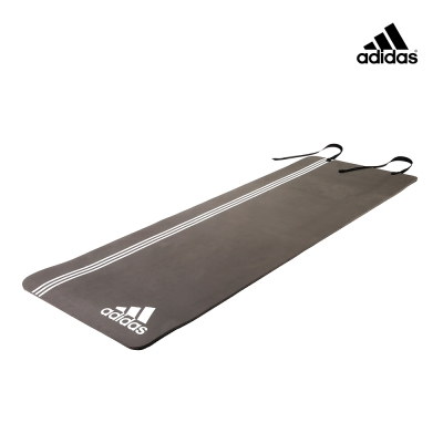 Adidas Training 雙波紋專業運動墊-8mm (灰白)