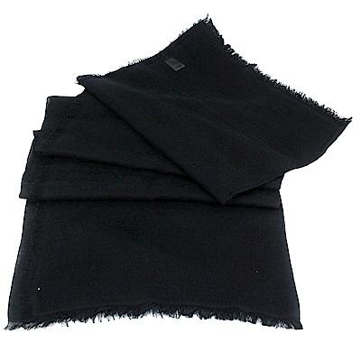 GUCCI 黑色 G LOGO 混紡方形圍巾披肩(大)