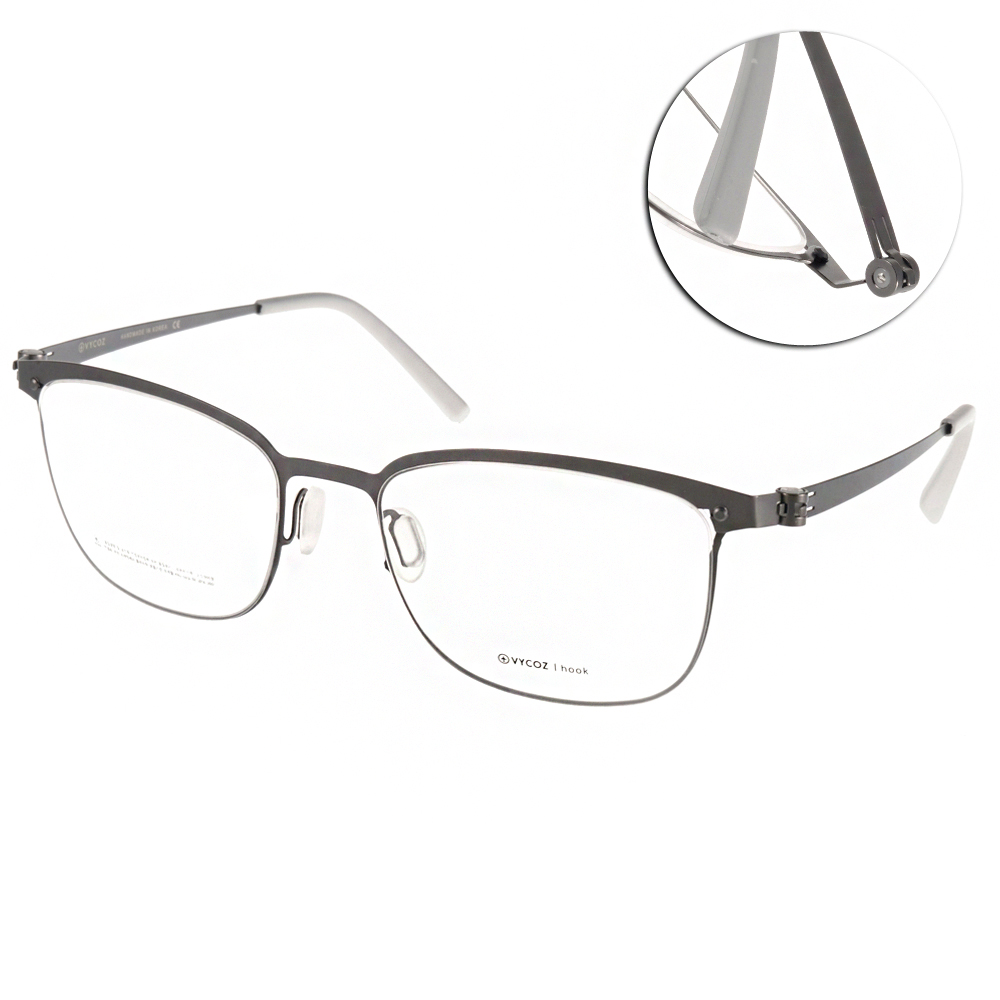 VYCOZ眼鏡 極簡薄鋼款/銀#DECK GUN