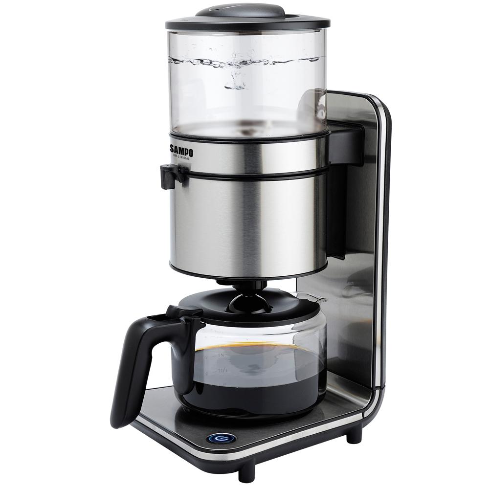 聲寶經典十杯大容量咖啡機(HM-L14101AL)-亮銀