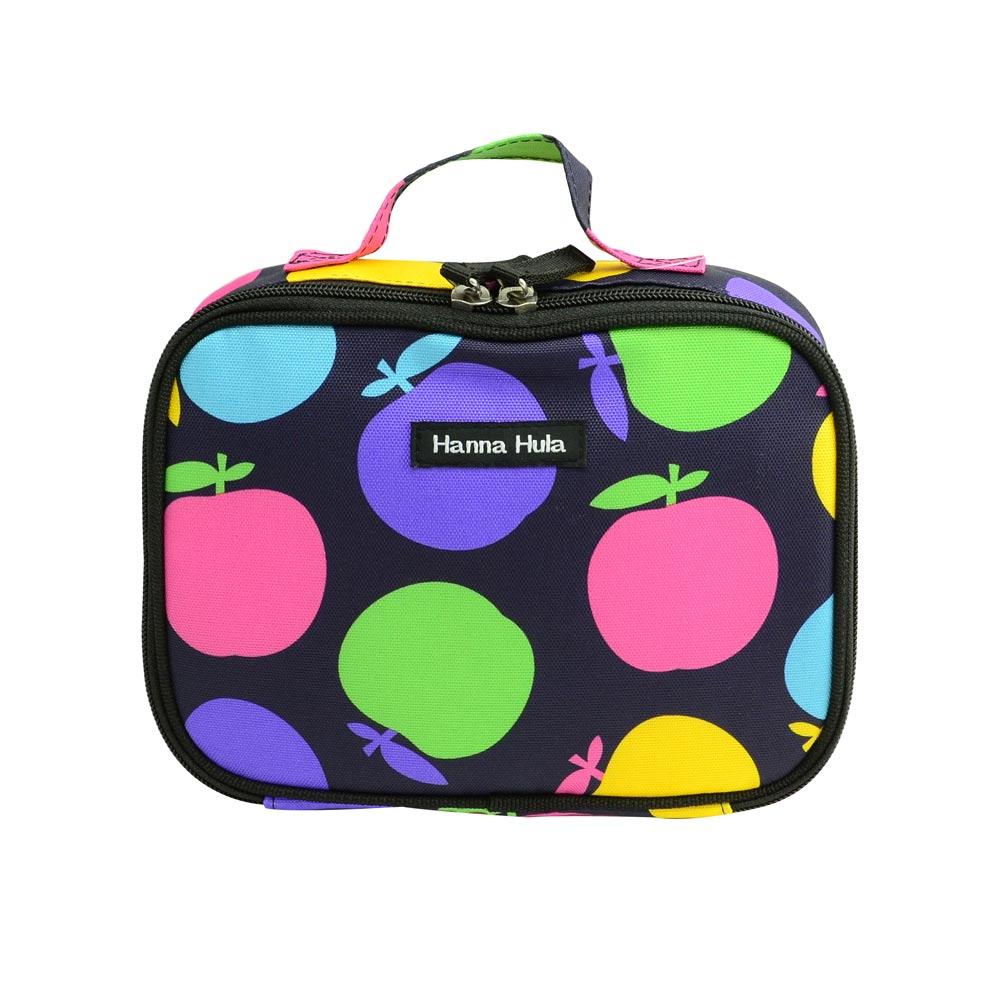 【Hanna Hula 日本】多用途隨身包-裝化妝品/衣物/當媽媽包裝尿片等(絢彩蘋果)