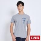 EDWIN 探險油燈短袖T恤-男-麻灰