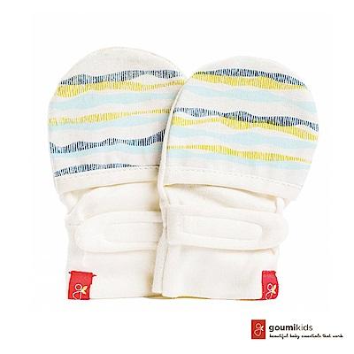 美國 GOUMIKIDS 有機棉嬰兒手套 (舞動波浪 - 淺綠色)