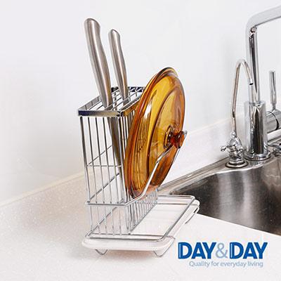 DAY&DAY 桌上型刀柄鍋蓋架(附滴水盤)