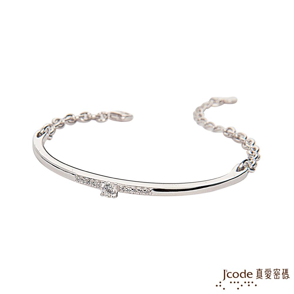J'code真愛密碼銀飾 愛情諾言純銀手鍊