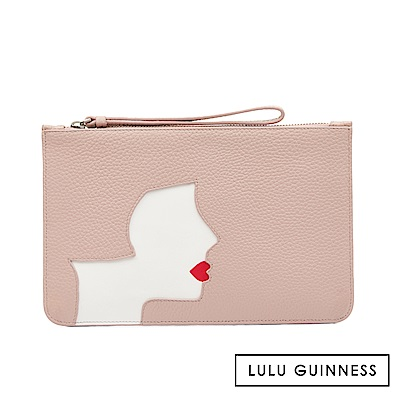 LULU GUINNESS KISSING CAMEO 扁式手拿包