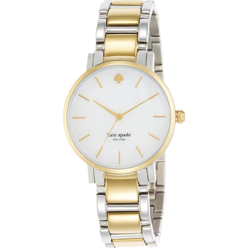 Kate Spade 紐約甜心時尚腕錶-珍珠貝x雙色版/34mm