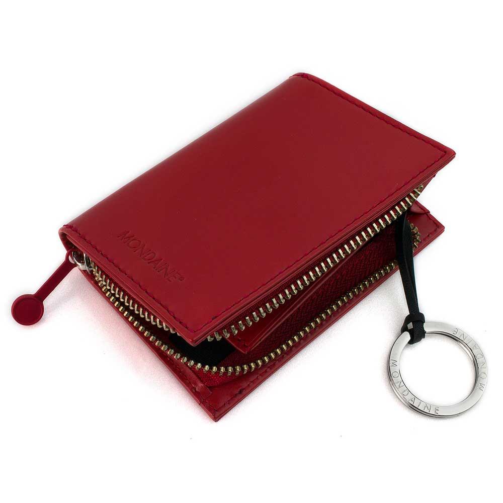 瑞士國鐵信封系列牛皮鑰匙零錢包-紅