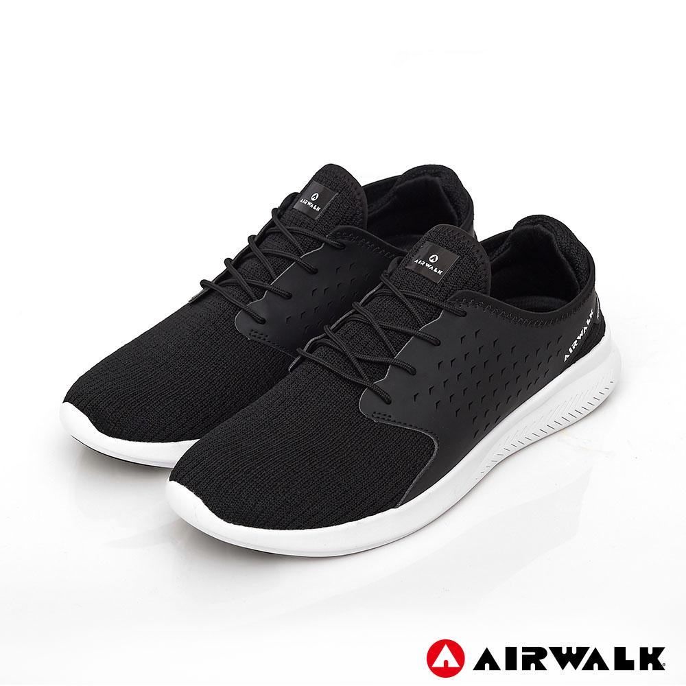 【AIRWALK】迴力追風編織慢跑鞋-黑色