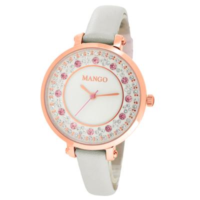 MANGO 水漾繽紛氣質時尚腕錶-MA6699L-85R/34mm