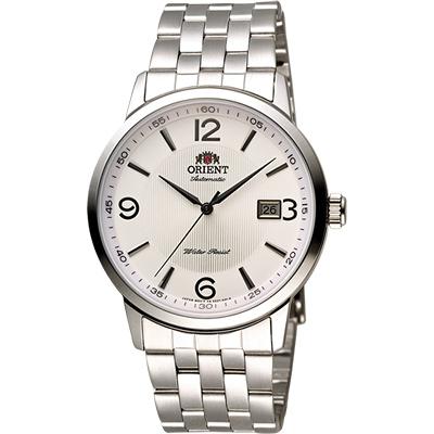 ORIENT 東方錶 DATE系列 城市菁英機械錶-銀/41mm
