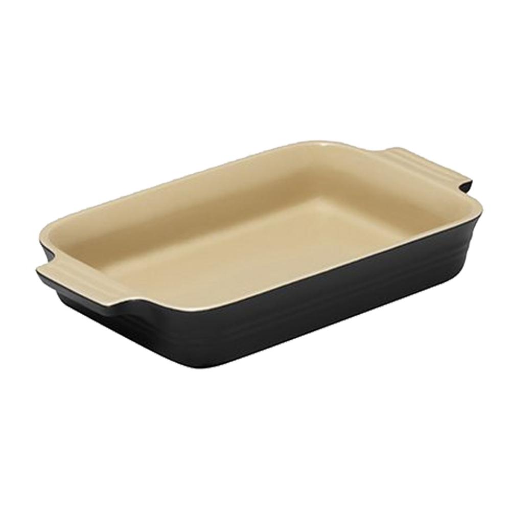 LE CREUSET 瓷器長方烤盤 26cm (沉靜黑)